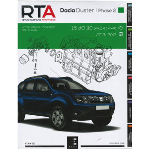 REVUE TECHNIQUE DACIA DUSTER BREAK I Phase 2 (2013-17) - RTA 831