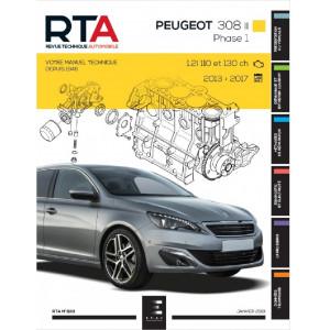REVUE TECHNIQUE PEUGEOT 308 II - Phase 1 (2013-2017) - RTA 833