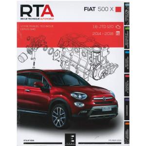 REVUE TECHNIQUE FIAT 500 X  (2014-2018) - RTA 834