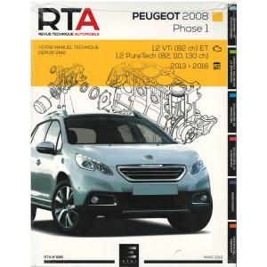 REVUE TECHNIQUE PEUGEOT 2008 Phase 1 (2013-2016) - RTA 835
