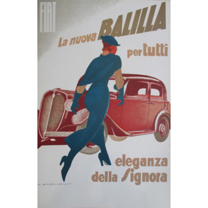 Affiche FIAT - BALILLA