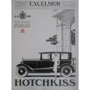 Affiche HOTCHKISS - EXCELSIOR