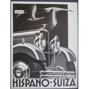 Affiche HISPANO SUIZA - A. KOW