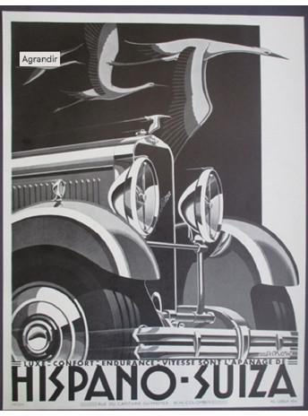 Affiche HISPANO SUIZA - A. KOW