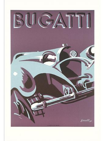 Affiche BUGATTI GEROLD 1932