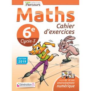 Cahier d'exercices iParcours MATHS 6e (éd. 2019) - Génération 5
