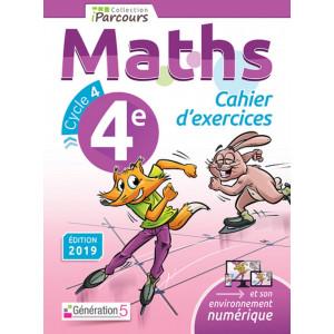 Cahier D'exercices IParcours MATHS 4e (Éd. 2019) - Génération 5