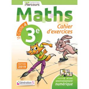 Cahier d'exercices iParcours MATHS 3e (éd. 2019) - Génération 5