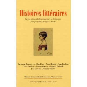 HISTOIRES LITTÉRAIRES 2019  N° 77