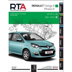 REVUE TECHNIQUE AUTOMOBILE RENAULT TWINGO II Ph 2 de 2012 à 2014 - RTA 837