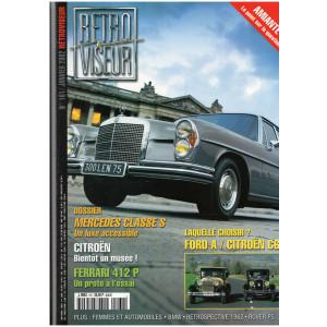 RETRO VISEUR n°161 Janvier 2002 / Dossier Mercedes Classe S / Essai Ferrari 412 P