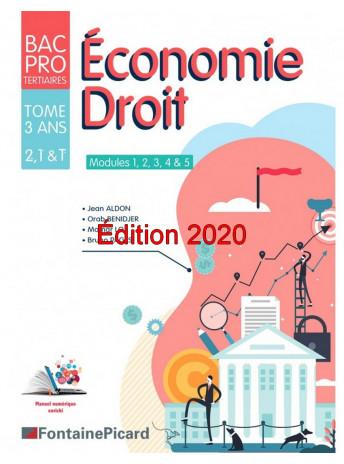 Économie Droit - Modules 1 à 5 Seconde, Première & Terminale / Edition Fontaine Picard / EDMA3-9782744631382