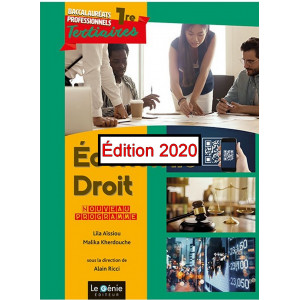 Économie-Droit - Première professionnelle Première Tous Bac pro tertiaires / Edition Le Génie / AP315-9782375636992