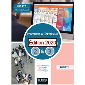 Blocs de compétences 2 et 3 Bac Pro métiers de l'accueil Première et Terminale / Edition Le Génie / AP316-9782375637197