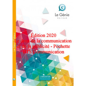 Le droit de la communication et de la publicité BTS Communication / Edition Le Génie / AP100-9782375638231