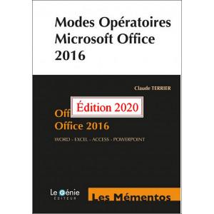 Modes opératoires Microsoft Office 2019 et Office 365 / Edition Le Génie / EX096-9782375637609