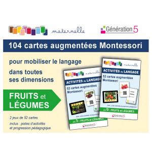 """Jeux de cartes augmentées Montessori 104 cartes """"Fruits et Légumes"""" / Génération 5  / 9782362463303"""