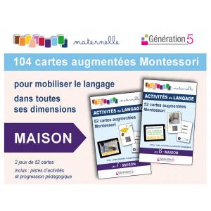 """Jeux de cartes augmentées Montessori 104 cartes """"Maison"""" / Génération 5  / 9782362463310"""