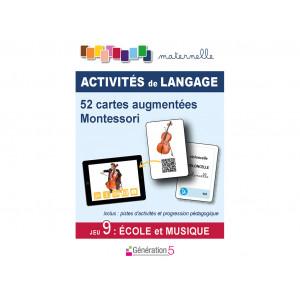 """Jeux de cartes augmentées Montessori 52 cartes """"Ecole et Musique"""" / Génération 5  / 9782362463327"""