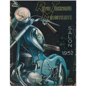 REVUE TECHNIQUE MOTOCYCLISTE N° 55 - PEUGEOT - SALON OCTOBRE 1952