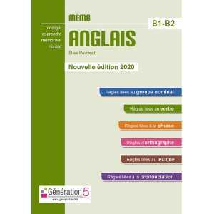 MEMO ANGLAIS B1-B2 - EDITONS 2020 / GENERATION 5 / 9782362463495