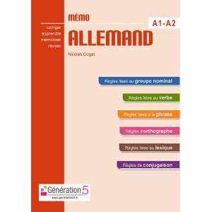 MEMO ALLEMAND A1-A2 (COLLEGE) / GENERATION 5 / 9782362463341