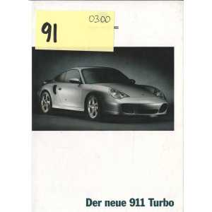 Catalogue PORSCHE 911-996 TURBO (Allemand)