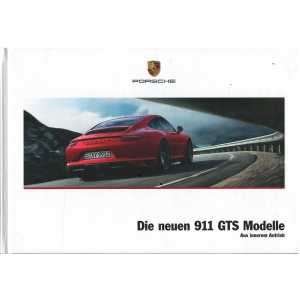 Catalogue PORSCHE 911 Die neuen 911 GTS (Allemand) 01/2017