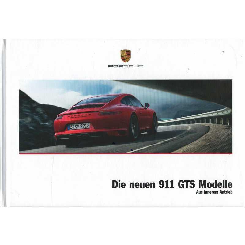 Catalogue PORSCHE 911 Die neuen 911 GTS (Allemand) 01/2017