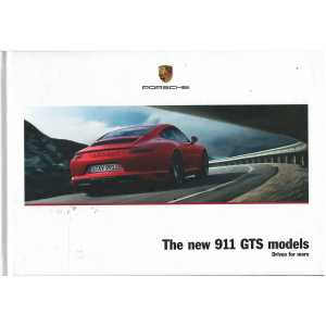 Catalogue PORSCHE 911 The new 911 GTS (Anglais) 01/2017