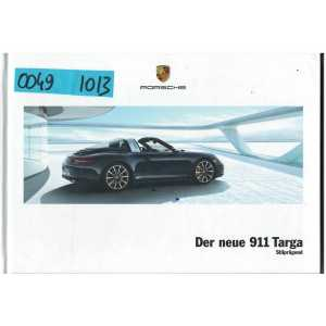 Catalogue PORSCHE 911Der neue 911 TARGA (Allemand) 10/2013