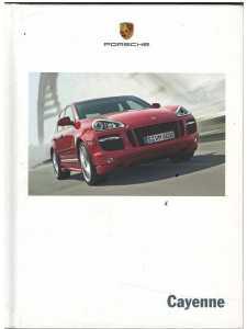 Catalogue PORSCHE CAYENNE (Néerlandais) 09/07