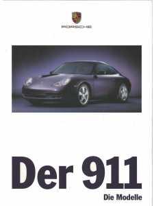Catalogue PORSCHE 996 en Allemand de 1998