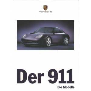 Catalogue PORSCHE 996 en Allemand de 1998