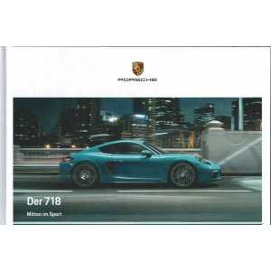 Catalogue PORSCHE 718 Boxster en Allemand de 2019