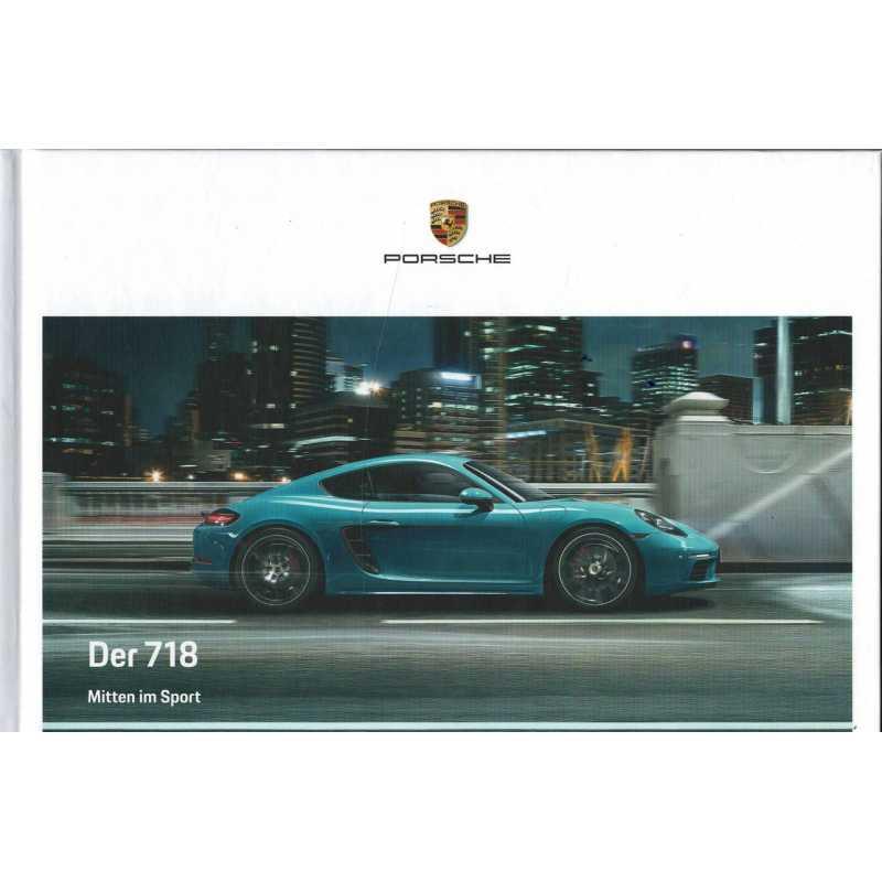 Catalogue PORSCHE 718 Boxster en Allemand de 2019
