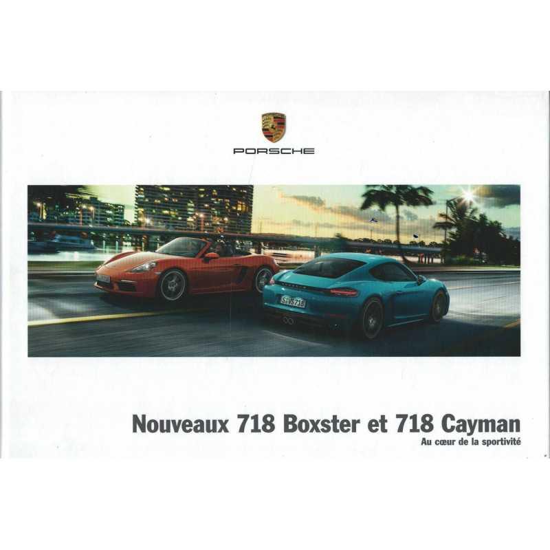 Catalogue PORSCHE 718 Boxster - Cayman en Français de 2016