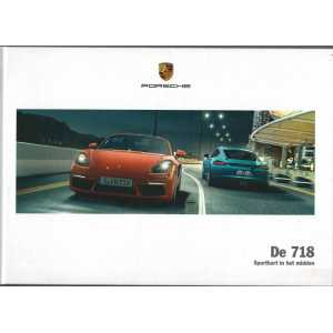 Catalogue PORSCHE 718 Boxster - Cayman en Allemand de 2017