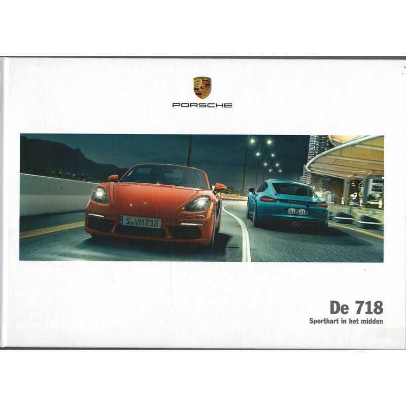 Catalogue PORSCHE 718 Boxster - Cayman en Allemand de 2017