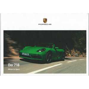 Catalogue PORSCHE 718 Boxster - Cayman en Allemand de 2020