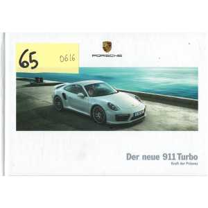 Catalogue PORSCHE 911-991 Turbo -Turbo S - (Allemand) 06/2016