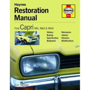 Ford Capri Restoration Manual MK1I, MkII, MkIII