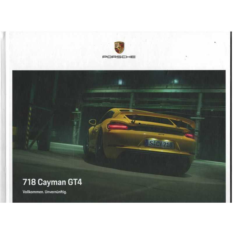Catalogue PORSCHE 718 CAYMAN GT4 (Allemand) 09/20