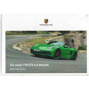 Catalogue PORSCHE 718 CAYMAN / BOXSTER - GTS 4.0  (Allemand) 01/20