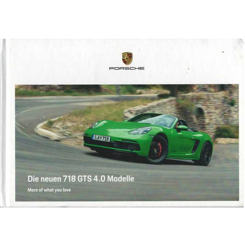 Catalogue PORSCHE 718 CAYMAN / BOXSTER - GTS 4.0  (Allemand) 01/20