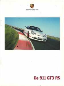 Catalogue PORSCHE 996 GT3 RS 2003 (Néerlandais)