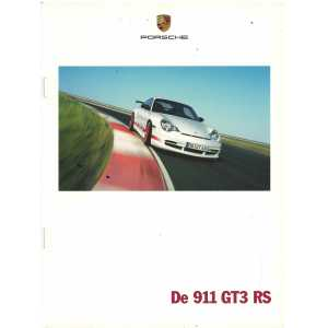 Catalogue PORSCHE 996 GT3 RS 2003 (Néerlandais)