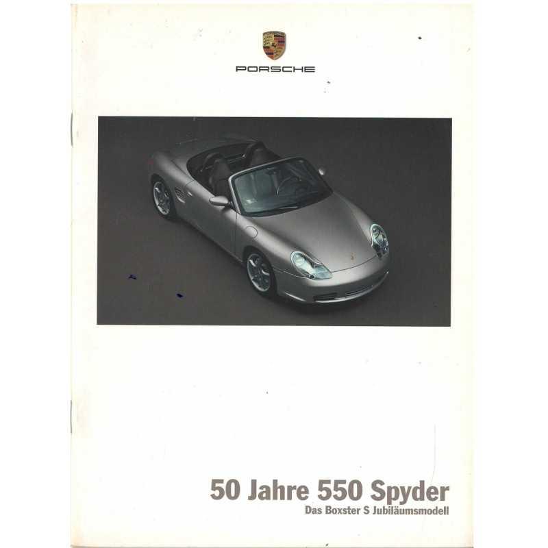 Catalogue PORSCHE BOXSTER 2003 (Allemand)