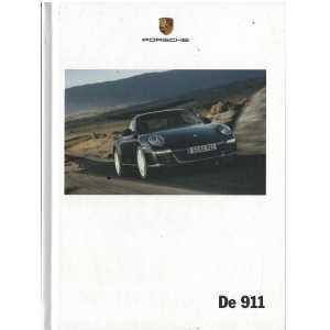 Catalogue PORSCHE 997 Coupé-Cabriolet-Targa 2009 (Néerlandais)