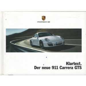 Catalogue PORSCHE 997 Carrera GTS 2010 (Allemand)